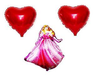 3 Pcs Disney Princess Sleeping Beauty Foil Balloon Birthday Party Decoration