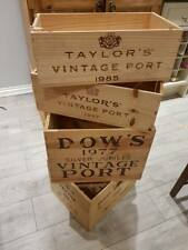 MIXED SIZE VINTAGE PORT box - Reclaimed Crate Vintage Shabby Chic Home Storage