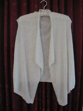 NICE SHORTER LENGTH IVORY WATERFALL CARDIGAN BY KATIES SIZE 12-14