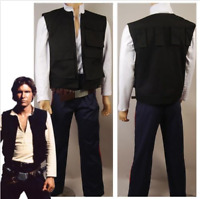Star Wars IV A New Hope Han Solo Cosplay Costume Vest Pants Shirt Belt Halloween