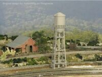 HO Scale Water Tower. 3D printed kit(Gray) High detail 8in version