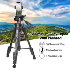 "52"" Portable Lightweight Aluminum Travel Tripod&Holder For Cellphone/DSLR Camera"