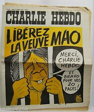 CHARLIE Hebdo 14 10 1976 N°309 dessins GéBé Wolinski Cabu VEUVE MAO en PRISON