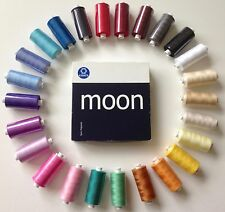 25 Reels MOON Coats Polyester Assorted SEWING Overlocking THREAD 1000 YARD
