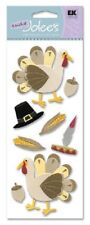 Thanksgiving Turkey Fall Pilgrims Indians Maize First Jolee's Stickers Scrapbook