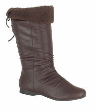 Flat (less than 0.5') Unbranded Knee High Boots for Women