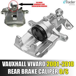 Vauxhall Vivaro Van 2001-2010 Rear Right Drivers Side O/S Brake Caliper Offside