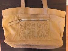 b4b1b3fee2633 See By Chloe Tan Leather Handbag - Used - Clean Interior
