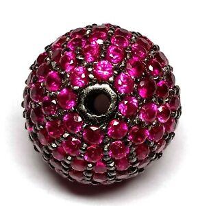 Handmade Designer Victorian Corundum Ruby Sterling Silver Beads Shape Beads11x12