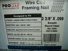 PROFIT  FRAMING NAILER NAIL 2 3/8 X .099 HITACHI BOSTITCH SENCO PASLODE SPOTNAIL