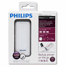 Philips 5200mAh Power Bank USB Battery Charger Back Up for SmartPhones & Tablets