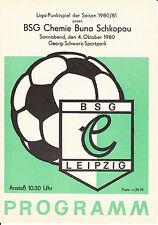 DDR-Liga 80/81 BSG Chemie Leipzig-BSG Chemie Buna Schkopau 04.10.1980