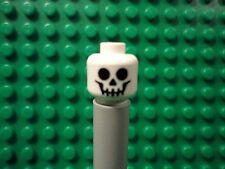 Lego mini figure 1 White skeleton head face NEW