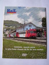 DVD Rail Passion chemin de fer YVERDON SAINTE CROIX Barbey Vuitebœuf  Baulmes