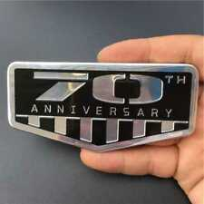 Black 70th Anniversary Rear Trunk Badge Emblem Sticker For Jeep