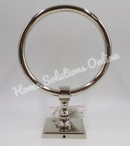 Pottery Barn Pearson Towel Ring Polished Nickel Finish Stainless Steel #9912L