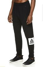 Reebok Buzzer Jogger Slim Fit BRAND NEW Sweatpants Athletic Pants Black