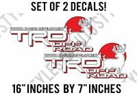 TRD for Tacoma Tundra Toyota Racing Development Deer Hunting PAIR Decal Stickers
