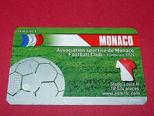 RARE FOOTBALL CARD FOOT2PASS 2010-2011 AS MONACO STADE LOUIS II ASM