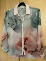 Ted Baker Tanisha Porcelain Rose Shirt size 3 UK 12 US 8
