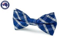 Men's Bowtie Yale Blue White Checks Bowtie Formal Bow tie Groomsmen Checked Ties