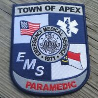 """Town of Apex NC North Carolina EMS Paramedic Fire Patch Large 4.75"""" x 4"""""""