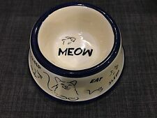 Seattle USA Inspirado Stonelite Cat Bowl Eat Sleep Play Yellow China