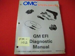"1997 OMC STERN DRIVES-GM EFI DIAGNOSTIC ""LK"" SERIES SERVICE MANUAL #507285 GC"
