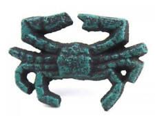 "New listing Seaworn Blue Cast Iron Crab Napkin Ring 2.5"" - set of 2 - Nautical Napkin Holder"