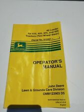 Jd John Deere 40 Loader 425 Tractor Operator Maintenance Manual Omm123903 D5