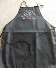 Woman's Apron black- It's Not a Hangover It's A Wine Flu- wine glass red clear