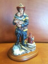 """Red Hats of Courage Fireman Rescue Child Figurine Hero 1997 Vanmark ( 8"""" Tall )"""