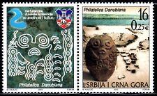 SERBIA Y MONTENEGRO 2003 2985/86 ARTE Y CULTURA PHILATELICA DANUBIANA  2v