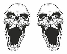 2x Skull Stickers for Motorcycle Gas Tank Car Bumper Laptop Luggage Decal #17