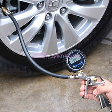 Universal Car Tire Inflator With Digital Air Pressure Gauge Offroad Accessories