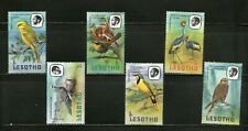LESOTHO : 6 DIFF.  BIRDS -1981,LARGE COMMEMO., MNH.