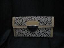 Liz Claiborne Women's Wallet Logo Lock Checkbook Khaki NEW