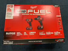Milwaukee 2999-22CX FUEL 2 Tool Combo Kit SURGE Driver & Hammer Drill Driver New