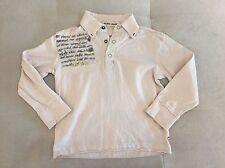 Guess Boys Polo Shirt Size 3T Light Beige Long Sleeve