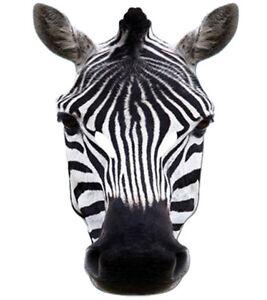 Zebra Animal 2D Card Party Face Mask Fancy Dress Up Zoo Safari Theme
