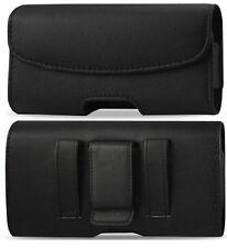 Premium Pelle Custodia Caso fondina con passanti per cintura Clip & Fit Slim Case sul telefono