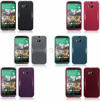 For HTC One 2014 M8 Slim TPU Slim Gel Silicone Skin Case Cover
