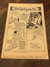 "Smash Comics March 1940 Gill Fox Original Illustration ""Bucky"" Wells SPORTRAITS"
