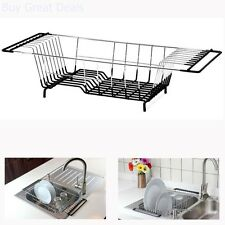 Over The Sink Kitchen Dish Drainer Rack Holder Drying Basket Tray Space Saver