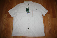 NWT Mens FIELD & STREAM Universal Travel Shirt UV Protection Sand Dune L $60