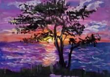 ACEO Original Art Sunset by Ludmila Bykova