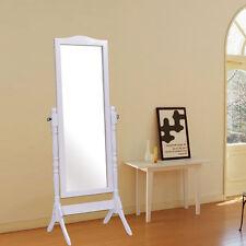 Full Length Dressing Mirror Swivel Wood Cheval Floor Standing Antique Bedroom