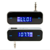 LCD FM Transmitter KFZ PKW LKW Auto Radio für MP3 Player iPhone 3,5mm E7W4 I6D5