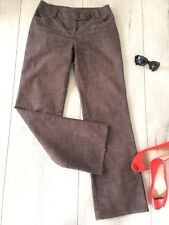 Dorothy Perkins Uk10 M Trousers Loose Straight Bootcut Wide Smart Brown