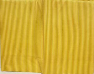 """Peva Vinyl Tablecloth 52"""" x 90"""" Oblong (6-8 people) GOLDEN YELLOW STRIPES by BH"""